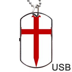 Cross Of Saint James Dog Tag Usb Flash (two Sides)