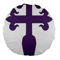 Cross Of Saint James Large 18  Premium Flano Round Cushions by abbeyz71