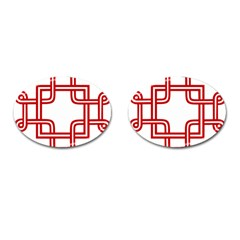 Macedonian Cross Cufflinks (oval) by abbeyz71