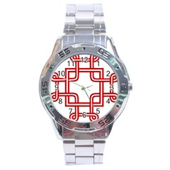 Macedonian Cross Stainless Steel Analogue Watch by abbeyz71