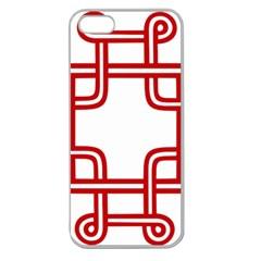 Macedonian Cross Apple Seamless Iphone 5 Case (clear) by abbeyz71