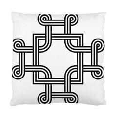 Macedonian Cross Standard Cushion Case (two Sides) by abbeyz71