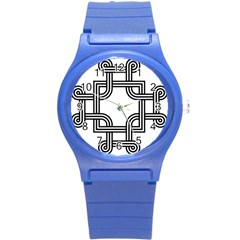 Macedonian Cross Round Plastic Sport Watch (s) by abbeyz71
