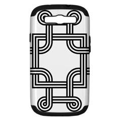Macedonian Cross Samsung Galaxy S Iii Hardshell Case (pc+silicone) by abbeyz71
