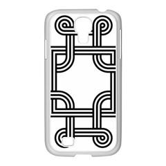 Macedonian Cross Samsung Galaxy S4 I9500/ I9505 Case (white) by abbeyz71