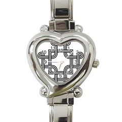 Macedonian Cross Heart Italian Charm Watch by abbeyz71
