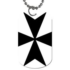 Maltese Cross Dog Tag (one Side) by abbeyz71