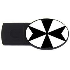 Maltese Cross Usb Flash Drive Oval (4 Gb) by abbeyz71