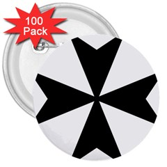 Maltese Cross 3  Buttons (100 Pack)  by abbeyz71
