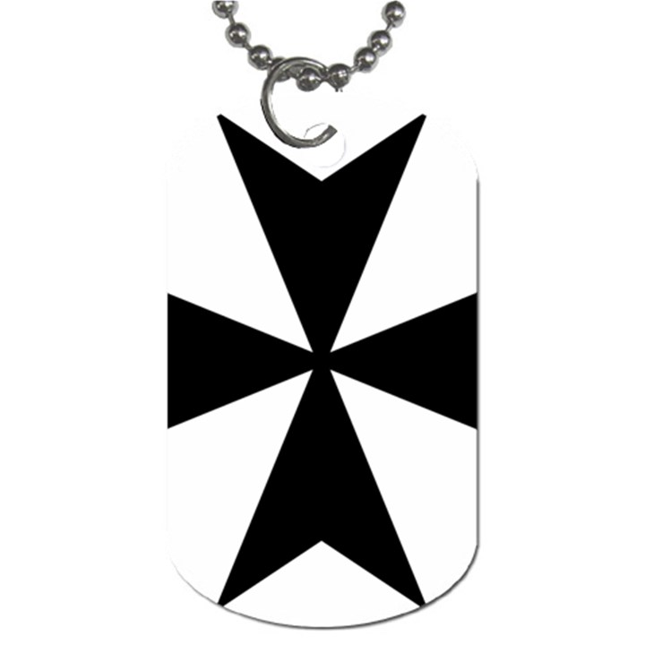 Maltese Cross Dog Tag (One Side)