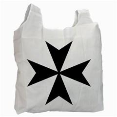 Maltese Cross Recycle Bag (one Side) by abbeyz71