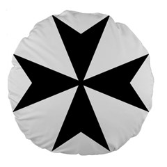 Maltese Cross Large 18  Premium Flano Round Cushions by abbeyz71