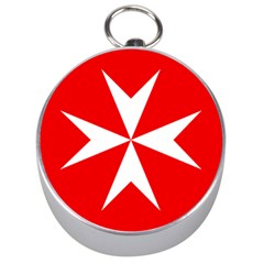 Cross Of The Order Of St  John  Silver Compasses