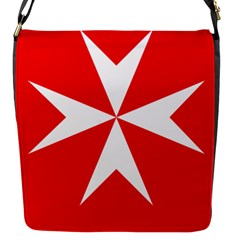 Cross Of The Order Of St  John  Flap Messenger Bag (s) by abbeyz71