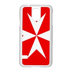 Cross Of The Order Of St  John  Samsung Galaxy S5 Case (white) by abbeyz71