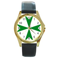 Cross Of Saint Lazarus  Round Gold Metal Watch by abbeyz71