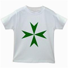 Cross Of Saint Lazarus  Kids White T Shirts by abbeyz71