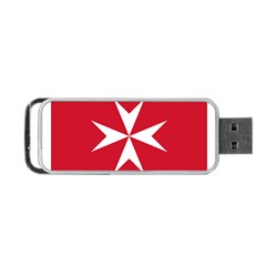 Civil Ensign Of Malta Portable Usb Flash (one Side) by abbeyz71