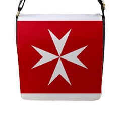 Civil Ensign Of Malta Flap Messenger Bag (l)  by abbeyz71