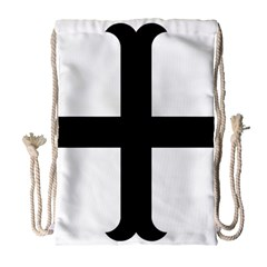 Cross Moline Drawstring Bag (large) by abbeyz71