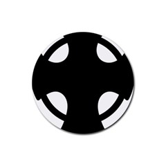 Cross Of Novgorod Rubber Round Coaster (4 Pack)  by abbeyz71