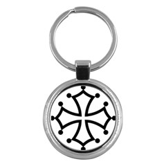 Occitan Cross\ Key Chains (round)  by abbeyz71