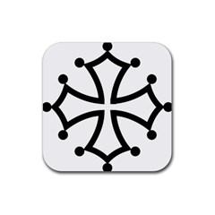 Occitan Cross Rubber Coaster (square)  by abbeyz71