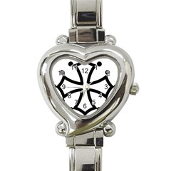 Occitan Cross Heart Italian Charm Watch by abbeyz71