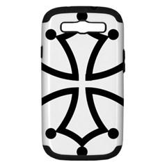 Occitan Cross Samsung Galaxy S Iii Hardshell Case (pc+silicone) by abbeyz71