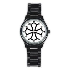 Occitan Cross Stainless Steel Round Watch by abbeyz71