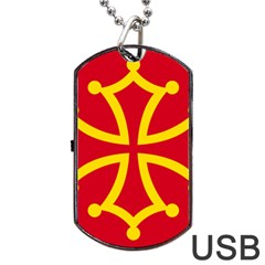 Flag Of Occitania Dog Tag Usb Flash (one Side) by abbeyz71