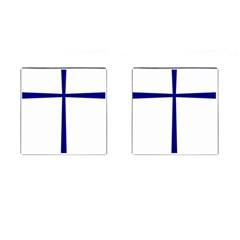 Byzantine Cross  Cufflinks (square) by abbeyz71