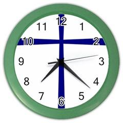Byzantine Cross  Color Wall Clocks by abbeyz71