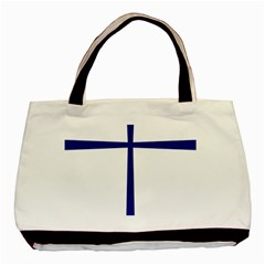 Byzantine Cross  Basic Tote Bag by abbeyz71