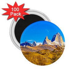 Snowy Andes Mountains, El Chalten, Argentina 2 25  Magnets (100 Pack)  by dflcprints