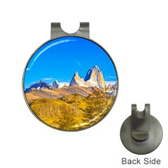 Snowy Andes Mountains, El Chalten, Argentina Hat Clips With Golf Markers by dflcprints