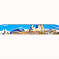 Snowy Andes Mountains, El Chalten, Argentina Small Bar Mats by dflcprints
