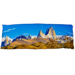 Snowy Andes Mountains, El Chalten, Argentina Body Pillow Case Dakimakura (two Sides) by dflcprints