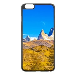 Snowy Andes Mountains, El Chalten, Argentina Apple Iphone 6 Plus/6s Plus Black Enamel Case by dflcprints