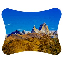 Snowy Andes Mountains, El Chalten, Argentina Jigsaw Puzzle Photo Stand (bow) by dflcprints