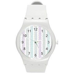 Pattern Round Plastic Sport Watch (m)