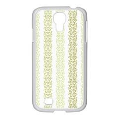 Pattern Samsung Galaxy S4 I9500/ I9505 Case (white) by Valentinaart