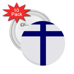 Papal Cross  2 25  Buttons (10 Pack)