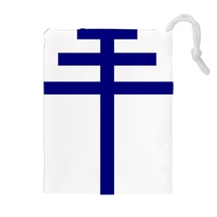 Papal Cross  Drawstring Pouches (extra Large) by abbeyz71