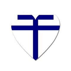 Papal Cross Heart Magnet by abbeyz71