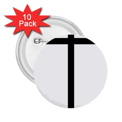 Papal Cross 2 25  Buttons (10 Pack)  by abbeyz71