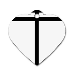 Papal Cross  Dog Tag Heart (one Side) by abbeyz71