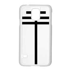 Papal Cross  Samsung Galaxy S5 Case (white) by abbeyz71