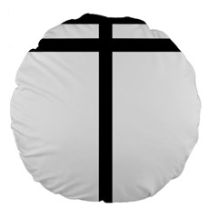 Papal Cross  Large 18  Premium Flano Round Cushions by abbeyz71