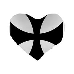 Cross Patty  Standard 16  Premium Heart Shape Cushions by abbeyz71